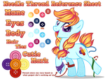 Needle Thread Reference Sheet by equinepalette