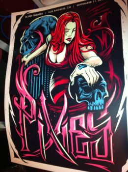 The Pixies Poster. El Rey Theatre. Los Angeles CA by Lime-Sun