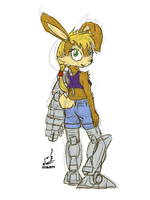 Bunnie Rabbot 5 by prdarkfox