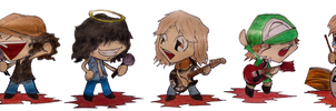 ACDC chibis by the-ChooK