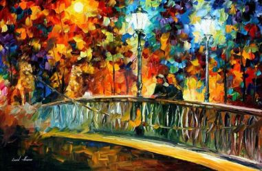 Date On The Bridge by Leonid Afremov by Leonidafremov
