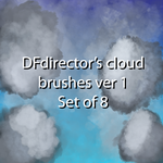 Free Cloud Brushes Ver 1 (CS5+) by DFdirector