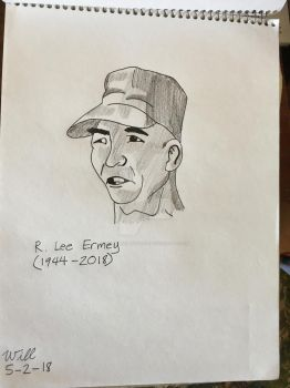 R. Lee Ermey Tribute by Spike-Angus77
