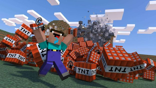 Stereotypical minecraft noob by MatthewGo707