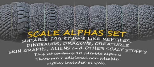 10 tileable alphas set by damir-g-martin