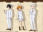 The Promised Neverland Anime Character Design Colo by Amanomoon