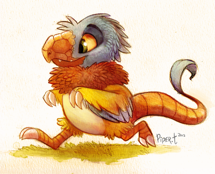 Archen Watercolor by Cryptid-Creations