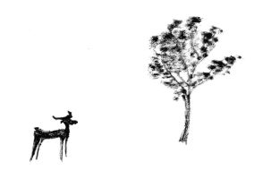 The deer and the tree by AquaticWarbler