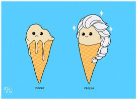 Frozen Ice Cream by rhobdesigns