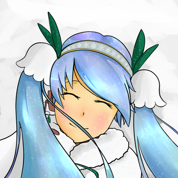 Snow Miku 2015 by swedishpancaces