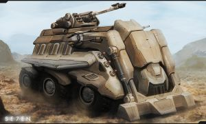 P7-Assault Vehicle Concept by JustMick