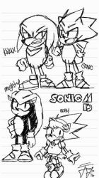 Sonic MD - Concept #3 - Sketches by Dazzledorp