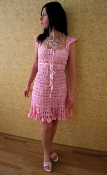 Crochet Dress for my sister by gbdreams