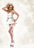 Snow Queen Pinup by mollygrue