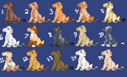 Lion cub adopts-Open-CLOSED AT LAST! by TwilightLuv10