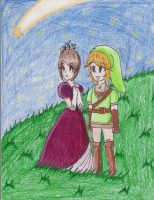 Rai and Link Star-Gazing by LilacPhoenix