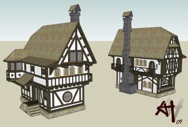 Medieval Town House 02 GSU by DeathFromAbove86