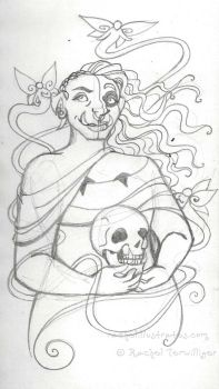 Sketch - Blessed Samhain (Orcish) by rachelillustrates