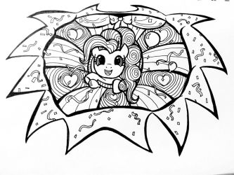 Pinkie Pie Sketch Finished by katubish