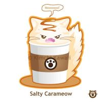 Cute Salty Cat Coffee by kimchikawaii