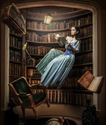 Levitation at the Library by erkanozan