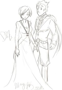 D2Z A Lady and her Escort -- Sketch by megaminoeien