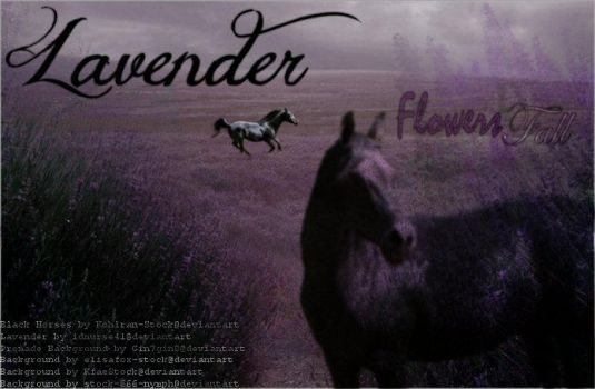 Lavender by flowers-fall