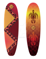 Australius Motif Surfboard Graphics by kwhammes