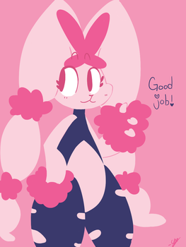Limited Palette Lopunny by ShayminTheShaymin