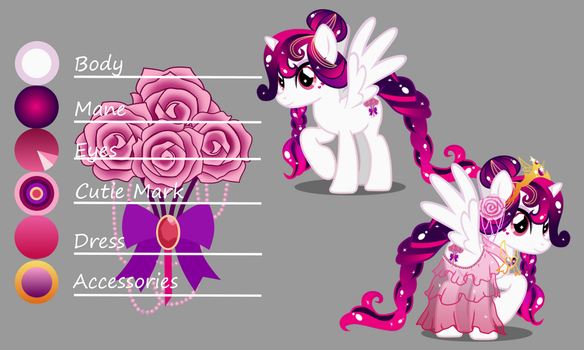 Primere Rose Heart - Reference (Commission) by Evil-DeC0Y