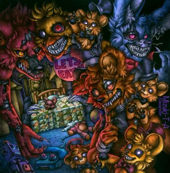 Don't disturb the child / Nightmares FNaF4 by Mizuki-T-A