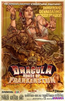 DRACULAS HOUSE OF FRANKENSTEIN by WacomZombie