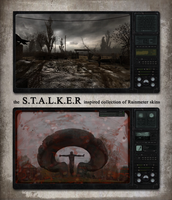S.T.A.L.K.E.R Clear Sky Rainmeter w/ blood effects by Mordasius