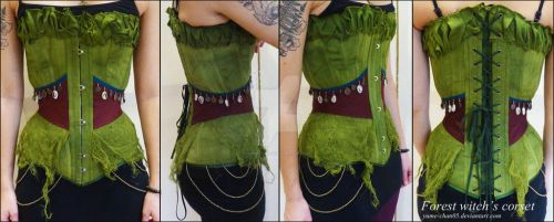 Forest witch's corset by yume-chan05