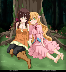 Zera and Mavis by Kingtema