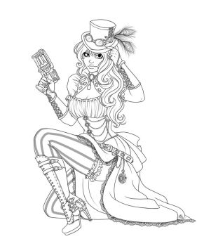 Steampunk Girl Commission from Harpyqueen by vmpwraith