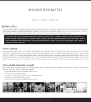 Monochromatic Journal CSS by pastelsneakers