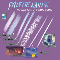 Free Palette Knife Manga Studio Blending Brushes by Fany001