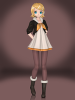 Kagamine Rin (Asymmetry R) by Sticklove