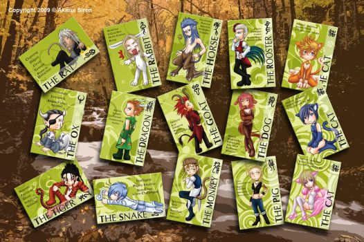 Org XIII Chine-Zodiac stickers by Forbidden-Siren