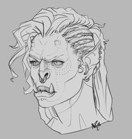 Grumpy Orc Lady by mbrisa