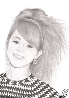 Lindsey Stirling Pencil Portrait by MilanRKO