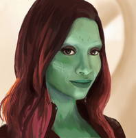 Gamora (speedpaint video in desription) by JanR90