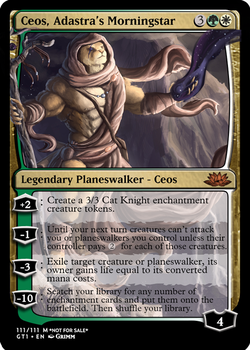 Ceos, Adastra's Morningstar - Planeswalker by Cryptos13