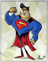 cartoony superman by HEROBOY