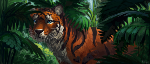 Tiger in jungle by Patrisiyaa