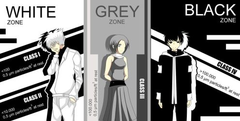 White, Grey and Black Zone by SECONDARY-TARGET