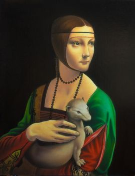 A girl with ermine by uvar