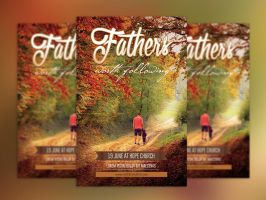 Fathers Day Flyer and Poster Template by Godserv