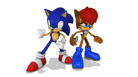 Sonic and Sally by Nictrain123